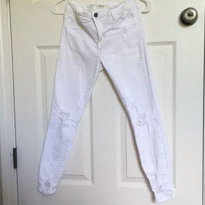 Cello White Distressed Skinny Jeans - Size 5
